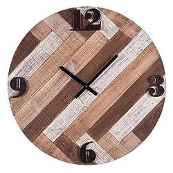 Foreside FCWX00426 Wooden Boardwalk Wall Clock, X-Large, Brown