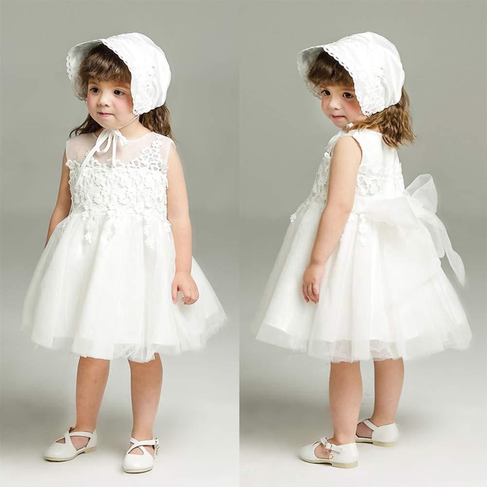 Meiqiduo Baby Girl Dress Christening Baptism Gowns Formal Dress