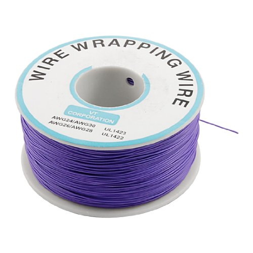 (Purple PVC Coated Tin Plated Copper Wire Wire-Wrapping 30AWG Cable 305M)