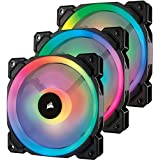 Corsair CO-9050072-WW LL Series LL120 RGB 120mm Dual Light Loop RGB LED PWM Fan 3 Fan Pack with Lighting Node Pro