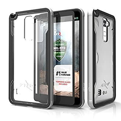 LG Stylo 2 Case, Zizo [Shock Series] w/ FREE [LG Stylo 2 Screen Protector] Crystal Clear [Military Grade DropTested] Aluminum Metal Bumper Stylo LS775