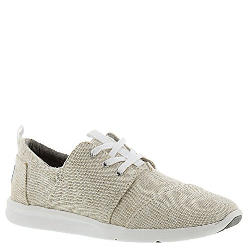 Toms Women's Del Rey Sneaker Natural Metallic Linen (6.5)