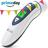 #7: Medical Digital Ear Thermometer with Temporal Forehead Function For Baby, Infant and Kids - Upgraded Tympanic Fever Scan Lens Technology for Better Accuracy - New 2018 - Thermometers iProven DMT-489WG