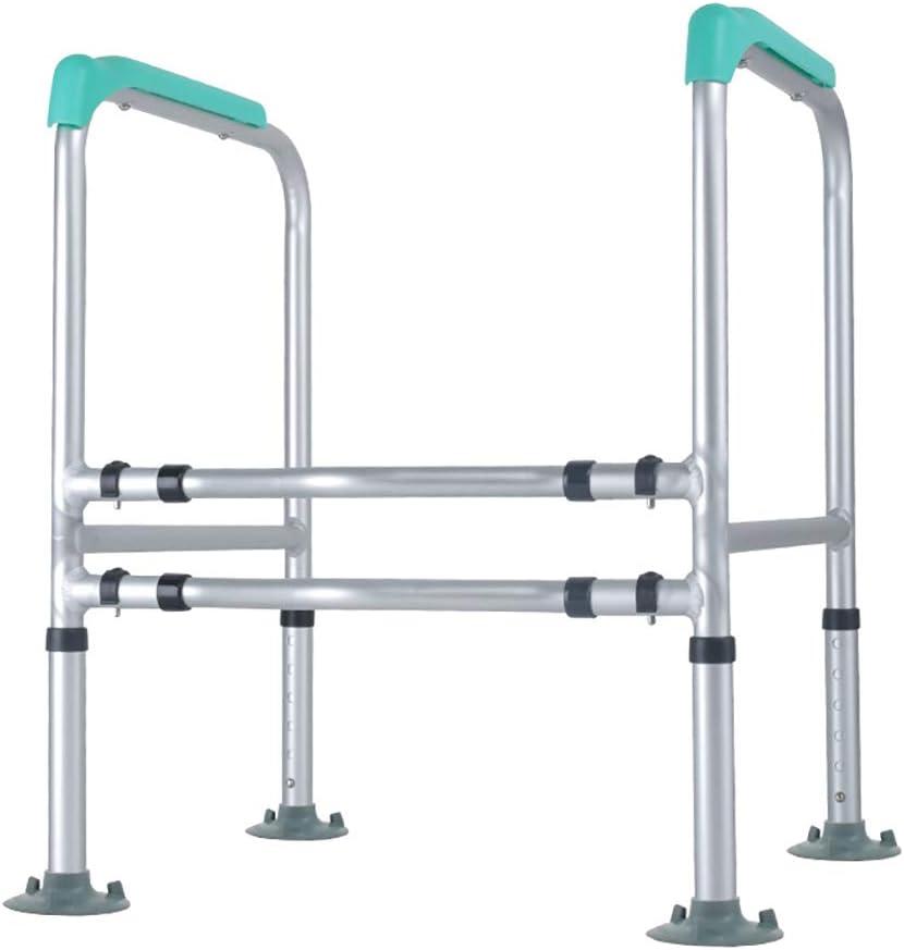 Bathroom Safety Toilet Rails, Medical Handrail Assist Grab bar, Freestanding Commode Stability Handrails,Adjustable Stand Alone Toilets Safety Frame for Elderly, Senior, Handicap Disabled