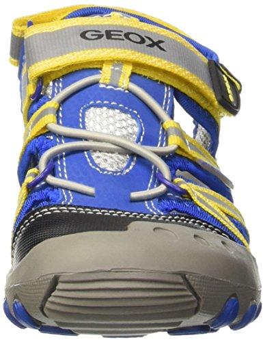 Geox Jr Sandal Kyle C, Zapatos de Primeros Pasos, Niños Multicolor (Royal / Yellow)
