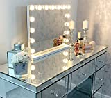 360-Degree Rotation 3 Light Modes HD Reflection 30-LED Vanity Mirror AEVO 10X Magnifying Lighted Makeup Mirror Easy Installation Stepless Dimming Two Power Options