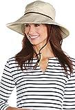 Coolibar UPF 50+ Women's Gardening Hat - Sun Protective (Small/Medium- Natural Herringbone)