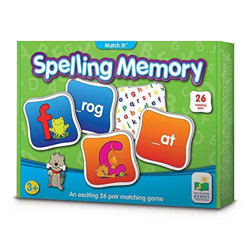 The Learning Journey Match It! Memory - Spelling - Reading Game for Preschool and Kindergarten 26 Three and Four Letter Picture Word Marching Game