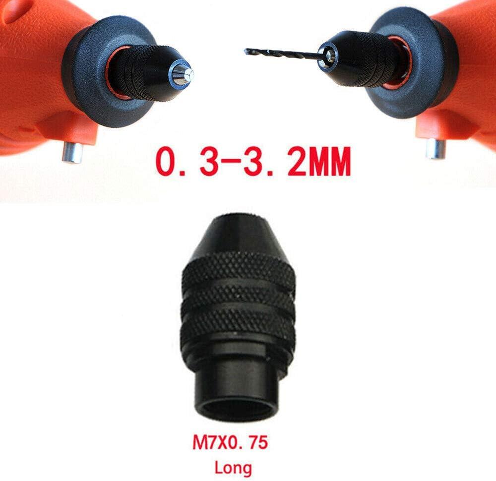 negro SENRISE 0,3-3,2 mm Portabrocas sin llave