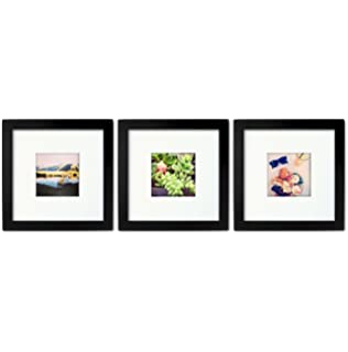 3 set tiny mighty frames wood square instagram photo frame