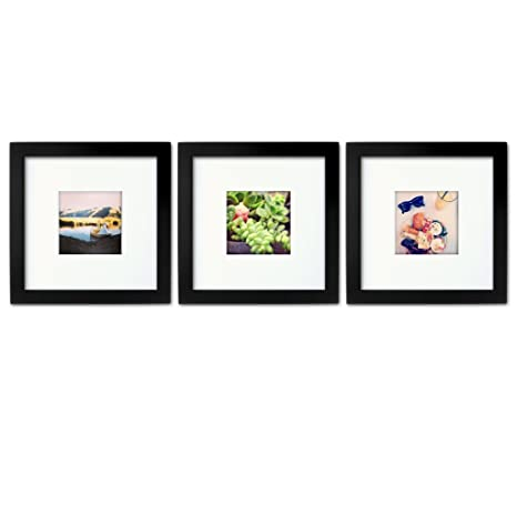 Amazoncom 3 Set Tiny Mighty Frames Wood Square Instagram