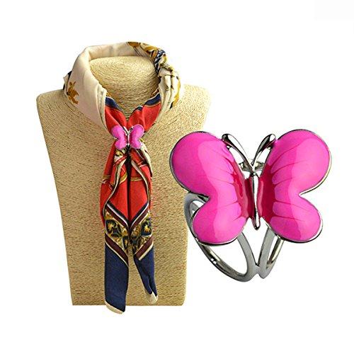 Jewelry Rarity Fashion plaqué or rose + AAA oxyde de zirconium femmes papillon Design Fashion préférée 18K plaqué or rose boucle écharpe Jewelry