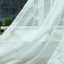 FADFAY Home Textile,Elegant Ikea Leaf Curtains,Designer European Rustic Sheer Curtains,Brand Cotton Linen Bedroom Curtains,2Panels