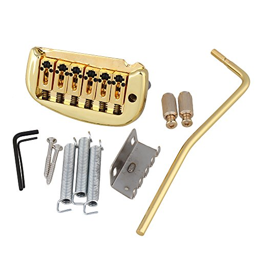 6-String Electric Guitar Double Locking Tremolo Bridge Golden - 1