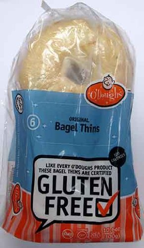 Odoughs Bagel Gluten Free Thins original, 10.58 - Salba Seed Oil