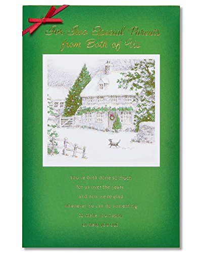 American Greetings Special Parents Christmas Card for Parents with Ribbon (5777192) The Office Us Christmas Special
