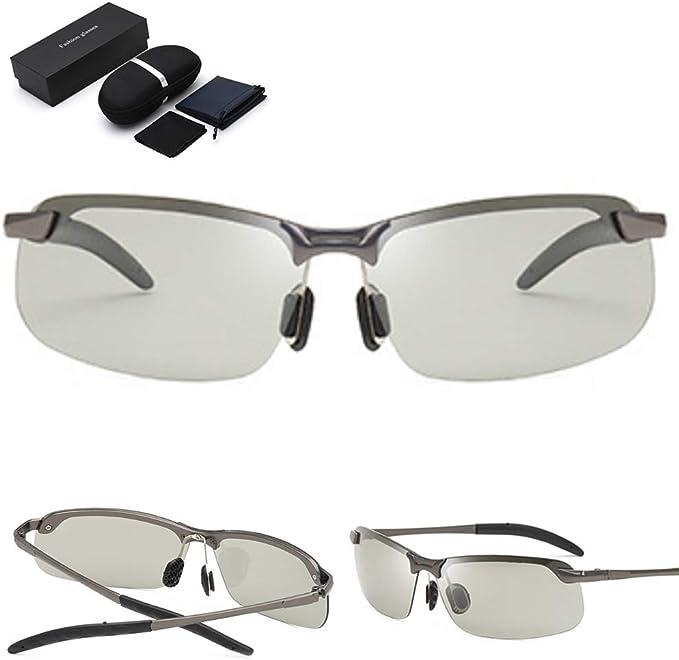 Gafas De Sol Polarizadas Fotocromáticas Para Deportes Al Aire Libre Para Hombres Gafas De Sol Antideslumbrantes Protección Uv400 Gafas De Sol Ultraligeras Para El Día Y La Noche Golf Correr Pesca: Amazon.com.mx