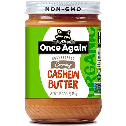 Organic Creamy Cashew Butter 16 Ounce (454 grams) Jar