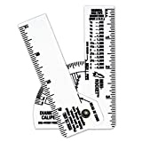 Mini Pipe Caliper/Diameter Caliper and Ruler - Fractional - 5 Pack