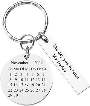 Personalized Master Partner Schlüsselanhänger Gravur Kalender Adventskalender Schöner Tag Edelstahl Paar Schlüssel Anhänger Silber Personalisierte Geschenke Spielzeug