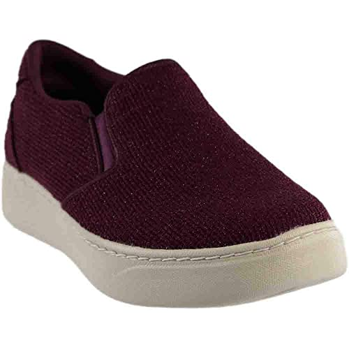 98e52f60b3dc Skechers Women s Sparkle Knit Twin Gore Slip Burgundy 5.5 ...