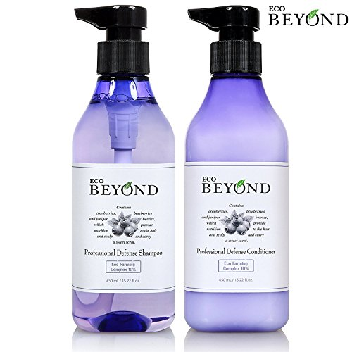 Eco Beyond Shampoo and Conditioner Set for Oily Hair, Natural Strengthener for Hair Loss & Itchy Scalp - Volumizing Moisturizing Treatment [No Paraben] 8.45 oz each ()