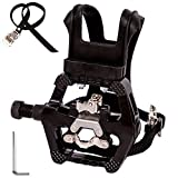 NAMUCUO SPD Pedals – Hybrid Pedal with Toe Clip and Straps, Suitable for Spin Bike, Indoor Exercise Bikes and All Indoor Bike with 9/16″ axles. 6 Month Warranty