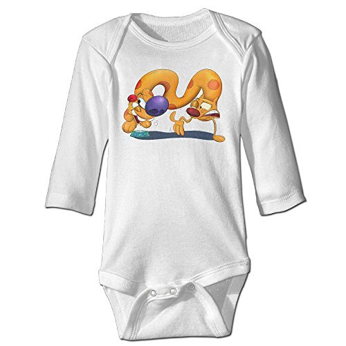 Raymond Catdog Long Sleeve Bodysuit Outfits White 18 (Catdog Costume)