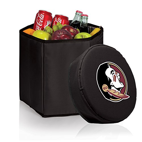 NCAA Florida State Seminoles Bongo Insulated Collapsible Cooler, Black