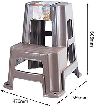Plástico Paso Taburete 2 3 Pasos Escalera Peso Ligero Portátil Antideslizante Multifunción Escalera Para El Hogar Cocina Oficina-color Café: Amazon.es: Bricolaje y herramientas