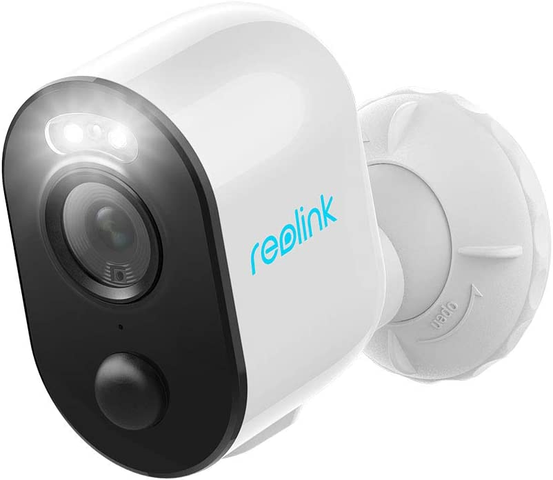 Reolink Spotlight Security Camera Wireless Outdoor Wire-Free Battery/Solar Powered, PIR Motion Activated Video Record, 1080P Night Vision, Two-Way Talk, Built-in Siren, for Home Surveillance Argus 3