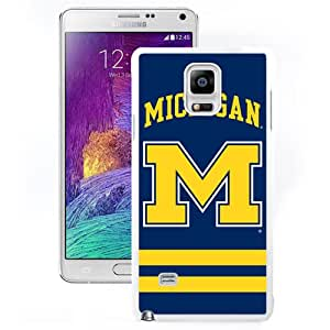 Hot Sale Samsung Galaxy Note 4 Cover Case Big Ten Conference Football Michigan Wolverines 18 Protective Cell Phone Hardshell Cover Case For Samsung Galaxy Note 4 N910A N910T N910P N910V N910R4 White Unique And Durable Designed Phone Case