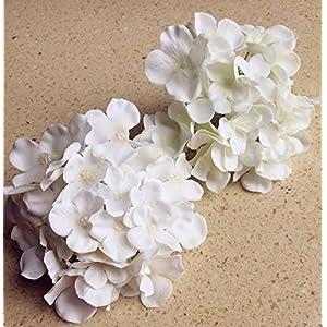 10pcs Hydrangea Flower Head 15cm with Stem Artificial Flowers Hydreageas for DIY Bridal Bouquet Wedding Centerpieces Decorative Flower 19