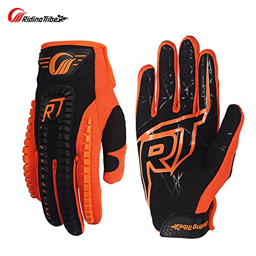Touch Screen Racing Motocross Gloves Luvas Guantes motocross motorbike luvas Motorcycle Gloves (XL, ORANGE)
