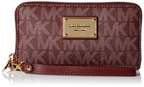Signature Coin Set (Michael Michael Kors Jet Set Travel Large Coin Multifunction Wallet (Merlot Signature))