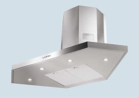 Faber 100cm Stilo Stainless Steel and Glass Corner Cooker Hood / Extractor  Fan 1000mm (2