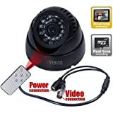 ZVision CCTV Dome 24 IR Night Vision Camera DVR with Memory Card Slot Recording (BNC)