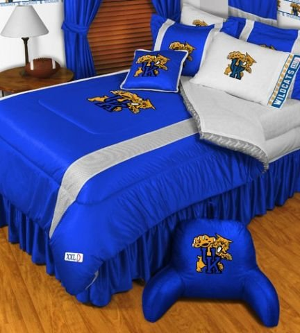 Kentucky Wildcats Jersey Comforter (Kentucky Wildcats NCAA Bedding - Sidelines Complete Set - Full w/ 2)