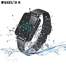 Original RUIZU K18 Digital Voice Recorder 8GB Wristband MP3 Player Hifi Music Watch Bluetooth 4.0 Noise Reduction for Class Bracelet -Black
