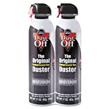 Falcon Dust-Off DPSJMB2 Jumbo Disposable Duster - Cleaning Spray - Gray
