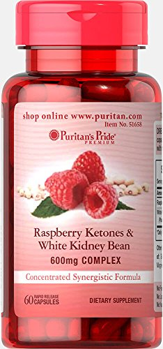 Puritan's Pride Raspberry Ketones and White Kidney Bean 600mg Complex-60 Capsules Review
