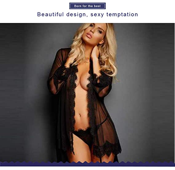f47b7e37452 Image Unavailable. Image not available for. Color  UZISHOP Sexy Lingerie  Women Erotic Lingerie Shirt Thongs Costume ...