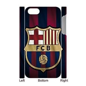 3D IPhone 4/4s Cases FC Barcelona Stripes Red Blue Gold, Antislip FC Barcelona Cases Bloomingbluerose, {White}