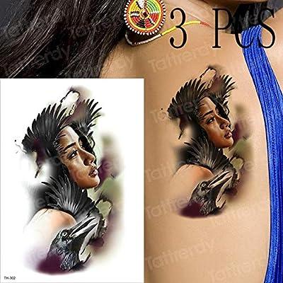 Handaxian 3pcsTatuaje de Loto Cuerpo Femenino Tatuaje Pegatina ...