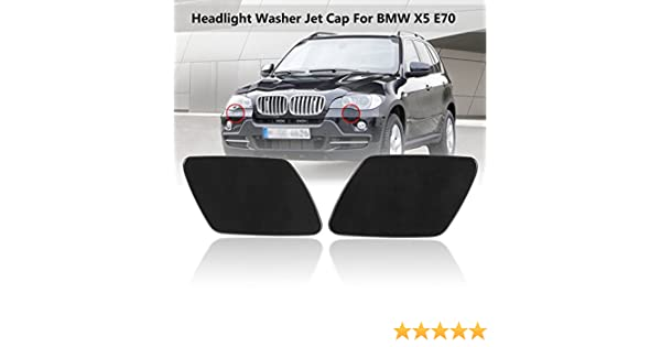 Botine Car Front Left /& Right Headlight Washer Jet Spray Nozzle Cap Cover for BMW X5 E70 51657199141 51657199142