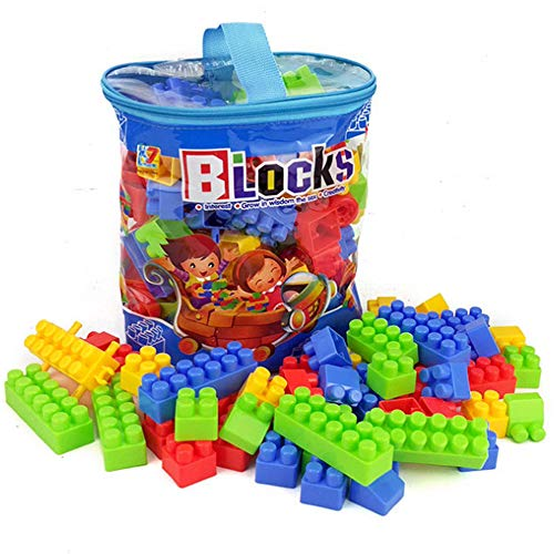 Kids Building Blocks Toys Puzzle Educational Children's Architectural Suits, Suitable For Children Over 3 Years Old, Gifts For Boys And Girls, 100 Pieces (100 pieces( handbag)) (Block Handbag)