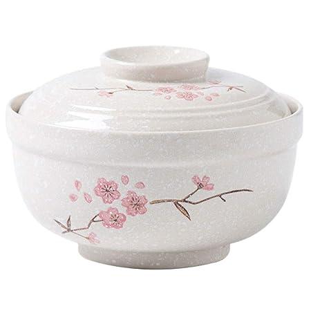 Sopa de cerámica Grande Fideos Plato de Pasta con Tapa Ensalada de ...
