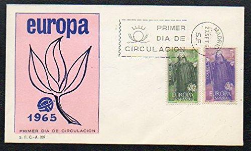 Filatelia. SPD. SOBRE PRIMER DÍA DE CIRCULACIÓN. EUROPA CEPT 1965. S.F.C.- A. 205.: Amazon.es: Correos España.: Libros