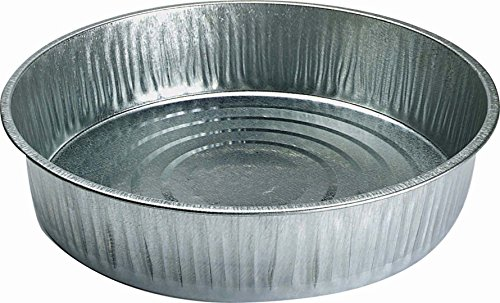 LITTLE GIANT Miller Co Galvanized Pan, 13 Quart