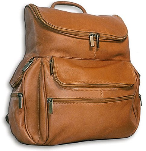 David King & Co. Computer Back Pack, Tan, One Size David King Leather Bag